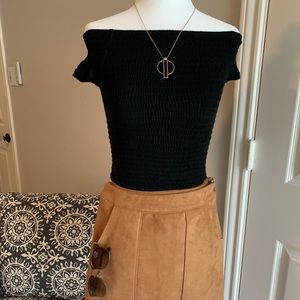 """Brandy Melville Tops - Smocked Top Perfect for """"Sexy Sandy"""" costume"""